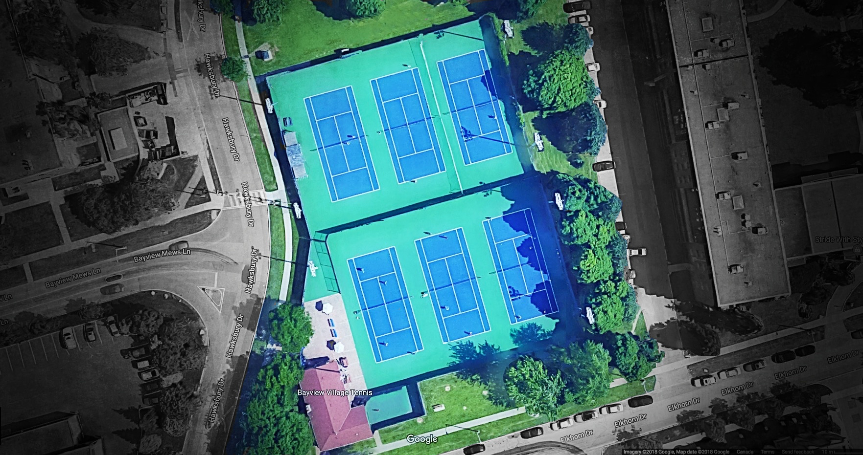 BVTC Tennis Courts Satellite View